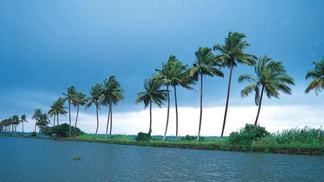 A storm brews over the Vembanad