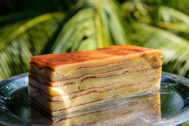 Goan Portuguese dessert Bebinca