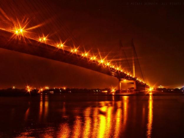 Vidyasagar_Setu_at_night