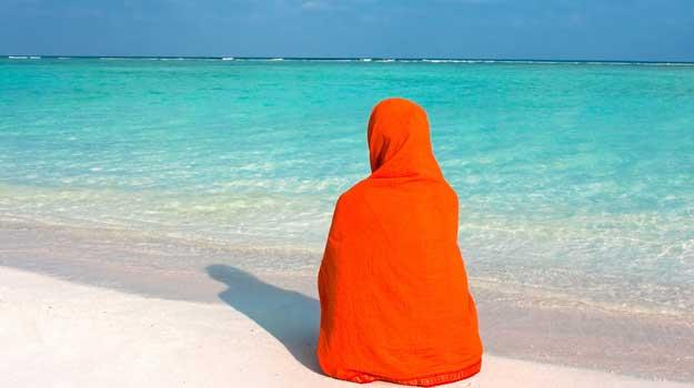 Woman-at-beach