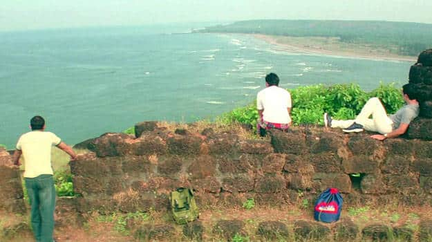 """Chapora Fort, as seen in the 2001 film """"Dil Chahta Hai"""""""