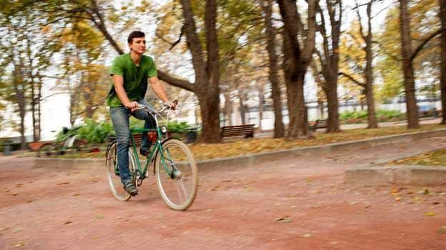 riding eco-friendly in the greenery is refreshing
