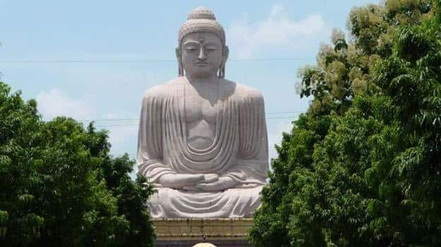 Great statue of Buddha in Bodh Gaya