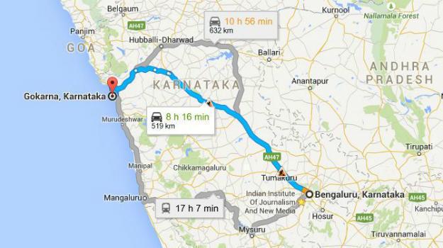 bangalore to gokarna how to reach gokarna from bangalore