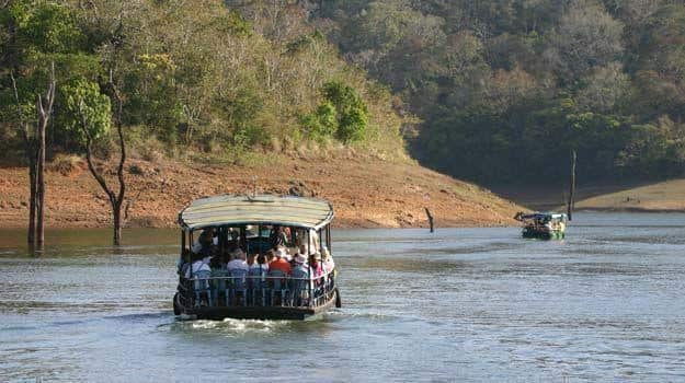Boat ride at Periyar Wildlife Sanctuary, Thekkady