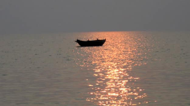 The waters of Bay of Bengal, from Bakkhali
