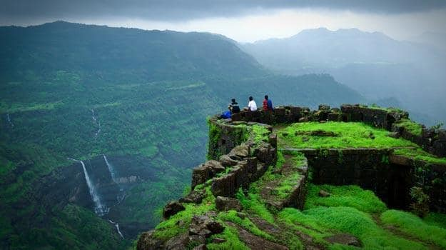 Rajmachi Fort in the monsoon