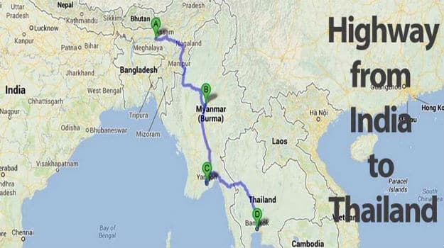 No you cant drive from India to Thailand Indiacom