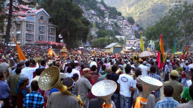 Dussehra in Kullu, Himachal Pradesh, Photography courtesy: Wikimedia commons/Kundephy