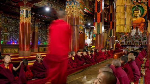 Prayers at Tawang Monastery