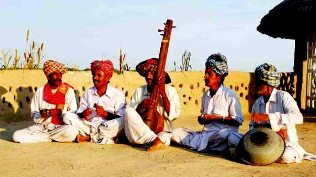Performers at Rann Utsav