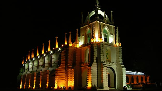 Image result for church on christmas goa