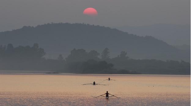 Sukhna Lake in Chandigarh