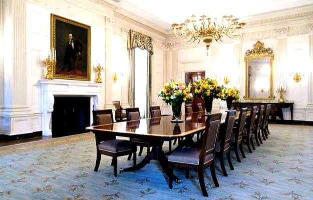 white house dining room | Inside White House: 18 photographs of America's most ...