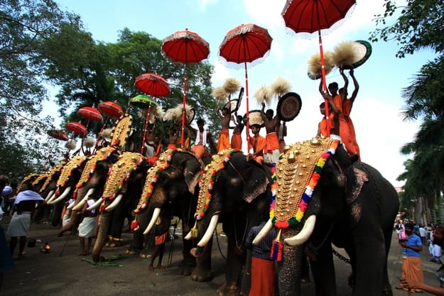 Thrissur Pooram 2017 celebration in Kerala