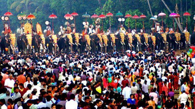 Arattupuzha Pooram,  Photograph courtesy: Kerala Tourism