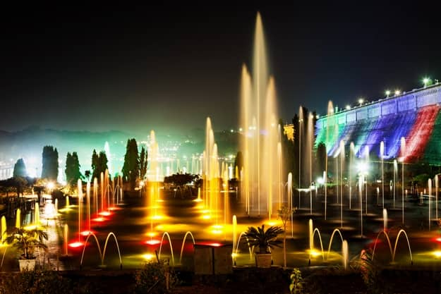 Musical fountains at Brindavan Gardens, Mysore