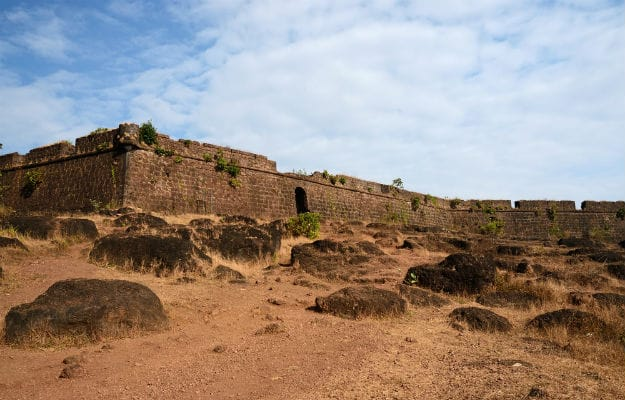 Chapora Fort walls
