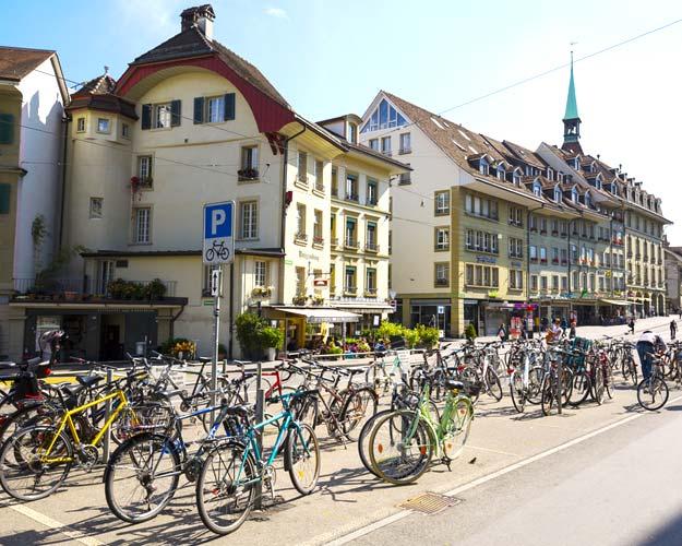 21Switzerland-Bern-parked-bicycles-shutterstock_339973046