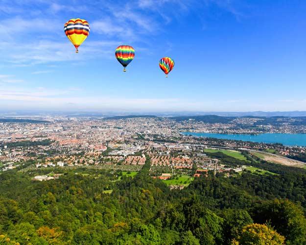 Switzerland-Zurich-aerial-view