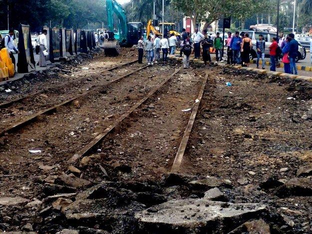 Mumbai tram tracks