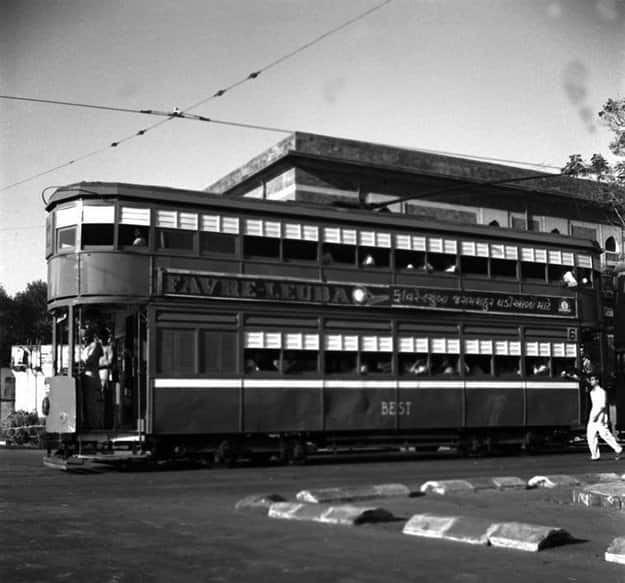 Double decker Mumbai tram