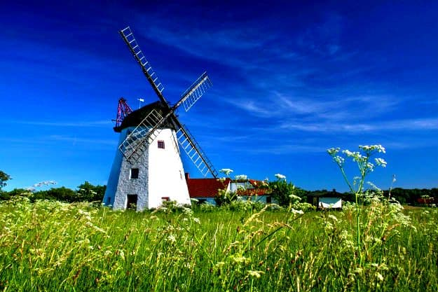 25-travel-denmark-Windmill Myreagre Molle on Bornholm