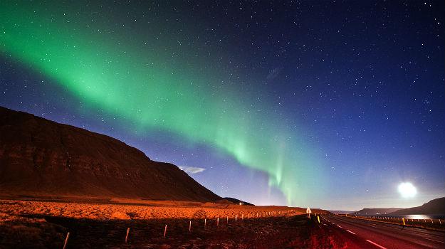 Aurora at Reykjavik, Iceland