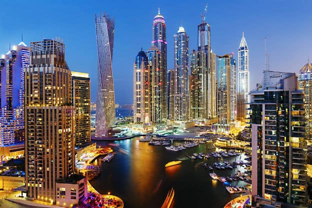 Dubai-Marina-at-dusk-shutterstock_164665634