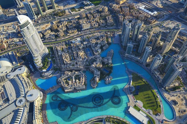 Dubai-city-view-from-tp-of-tower-shutterstock_234789337