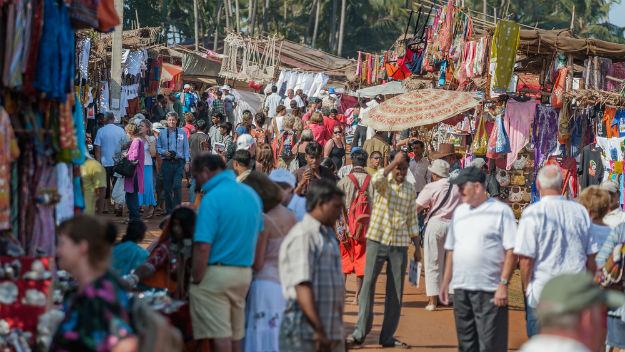 Goa-crowd