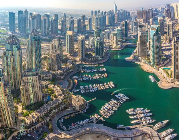 Modern buildings in Dubai Marina-shutterstock_229316326