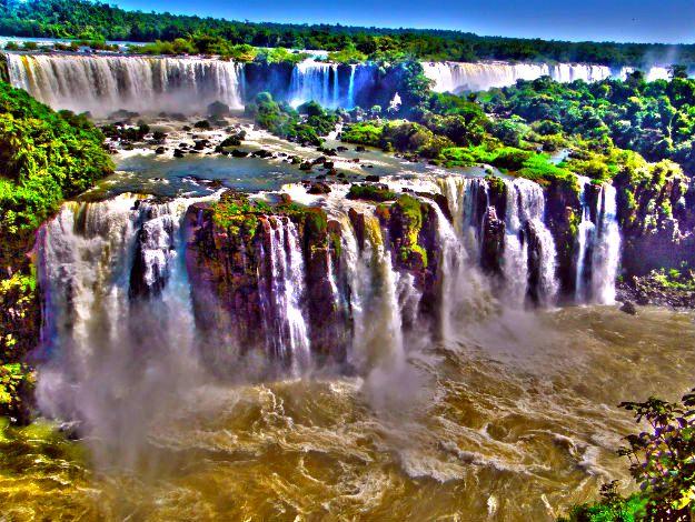 Amazing Natural Wonders Of The World Iguazu Falls Brazil Indiacom - Natural resources of brazil