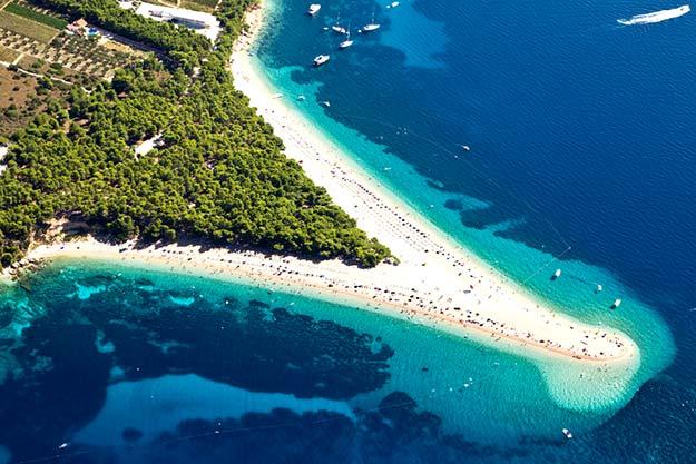Croatia-Zlatni-Rat-beach-in-Bol-Brac-island