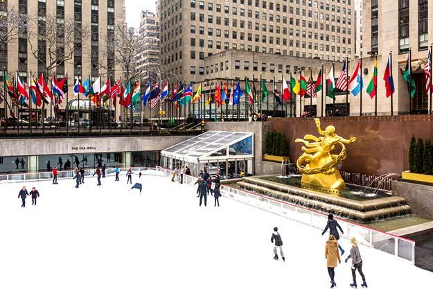 Ice ring at Rockefeller Center