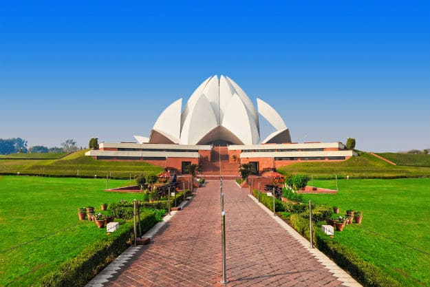 Lotus Temple - Cycling Tracks in Delhi NCR