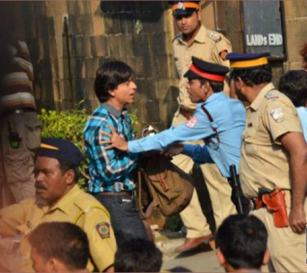 SRK shoot Mannat