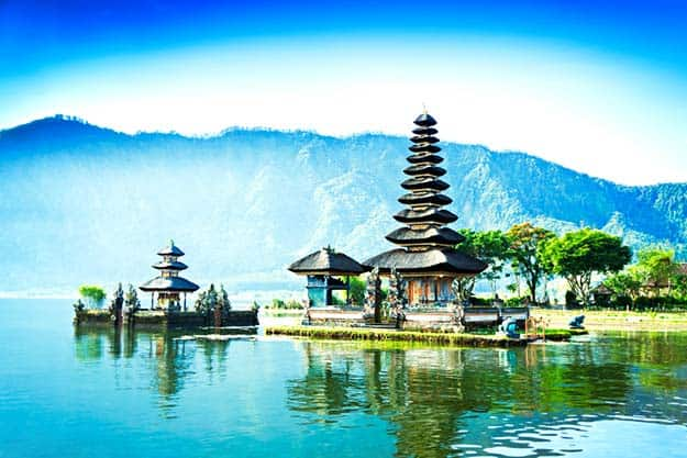 Ulun Danu temple-Beratan Lake in Bali