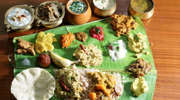 A typical Sadhya