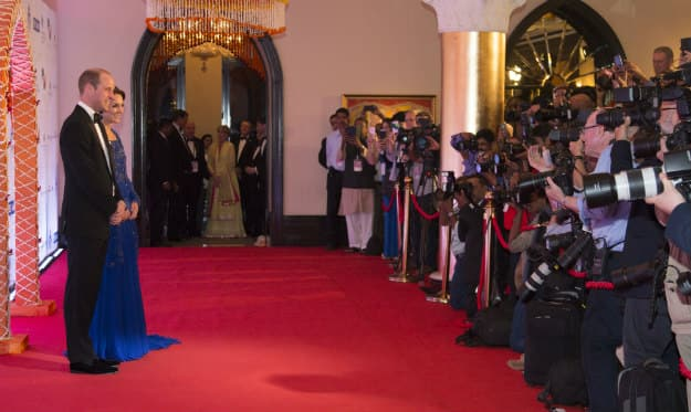 prince william and kate bollywood gala