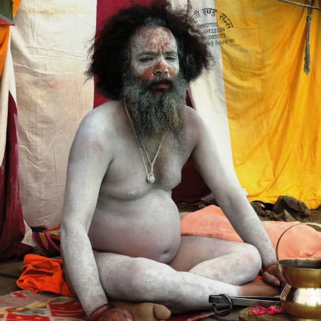 07 A Naga sadhu