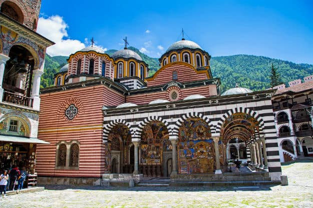 Beautiful church in Unesco World Heritage site famous Rila Monastery