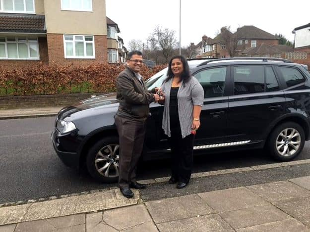 Bharulata Kamble (pictured here with her husband) is planning to drive from the UK to India all alone