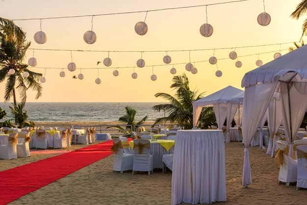 Beach restaurant Goa