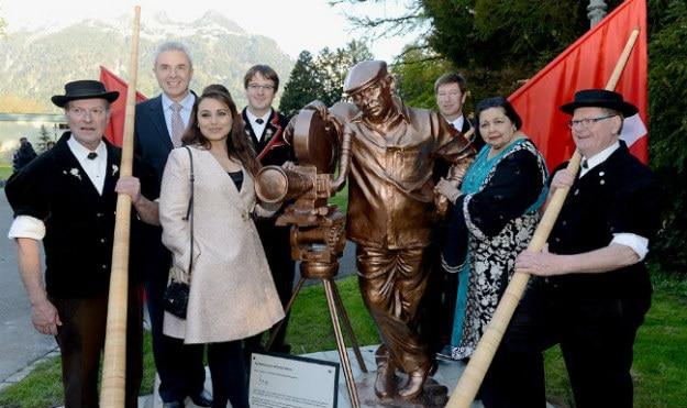 yash chopra statue switzerland
