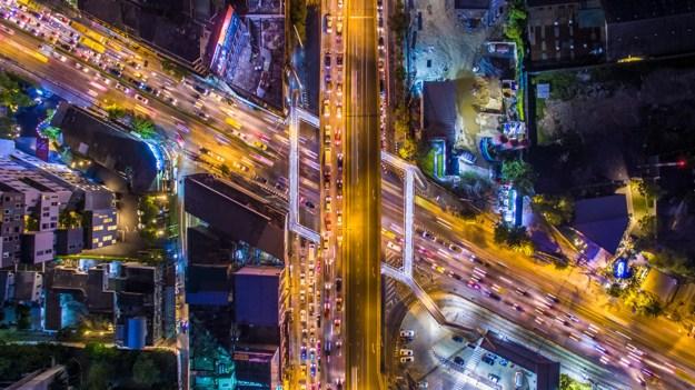 HDR Bangkok Junction At Night