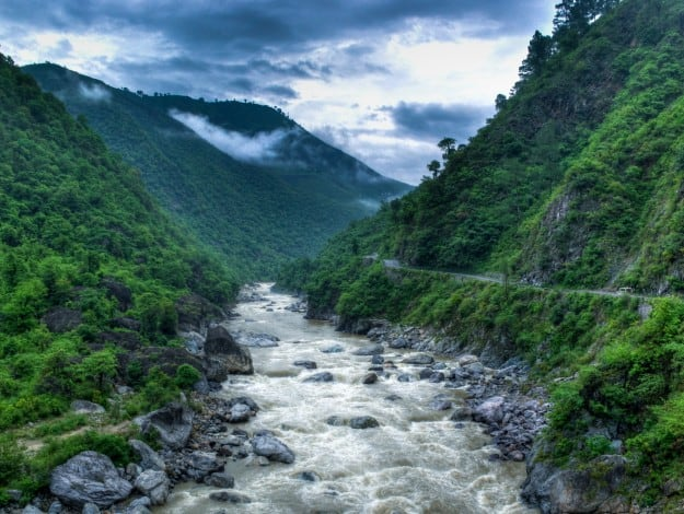 Kosi River valley near Almora, Uttarakhand