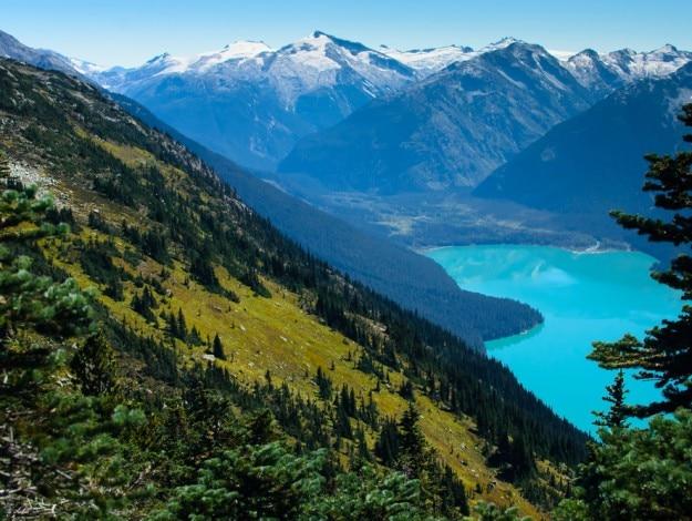 Mountain Turquoise Lake in Canada Cheakamus Lake