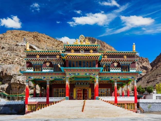 Buddhist monastery in Kaza. Spiti Valley, Himachal Pradesh, India