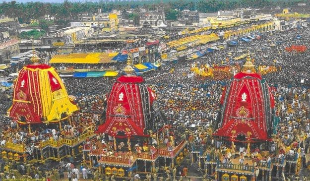 Rath Yatra procession, Photograph courtesy: Wikimedia Commons
